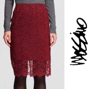 NWT Mossimo Lace Overlay Pencil Skirt XS